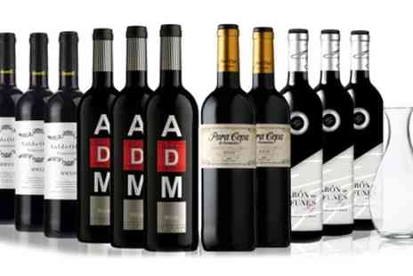 SanJamon - 11 Bottles of Joven, Madurado and Crianza Red Wine and Decanter - Save 45%