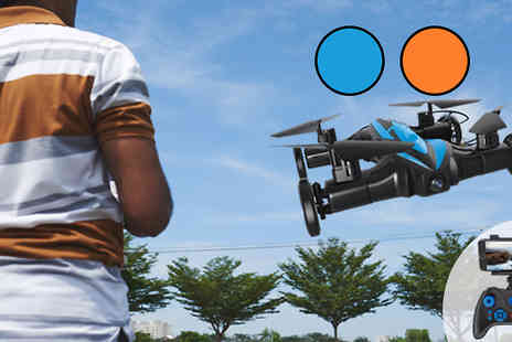 Toy Loco - Gyro RC Quadcopter Car Drone With Camera in 2 Colours - Save 69%