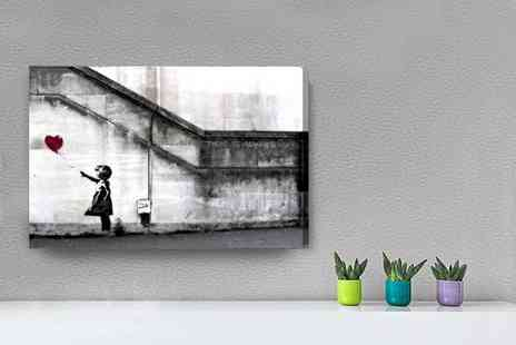Deco Matters - A2 or A1 Banksy canvas print - Save 91%