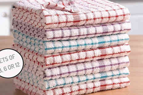 Gorgeous Selection - Pure Cotton Terry Tea Towel Sets - Save 44%