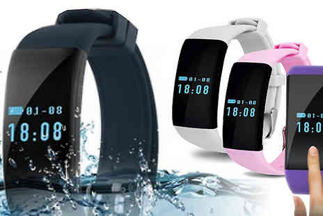Bazaar me - Bluetooth 4.0 Fitness Heart Rate Monitor Smartwatch in 4 Colours - Save 60%