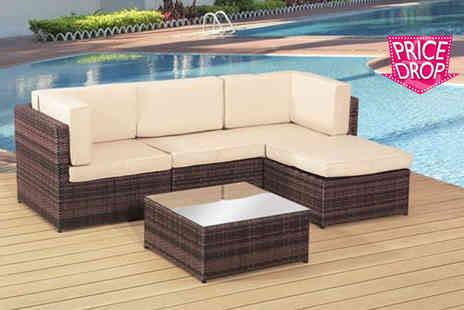 Rattan Trends - Rattan garden lounge set - Save 72%