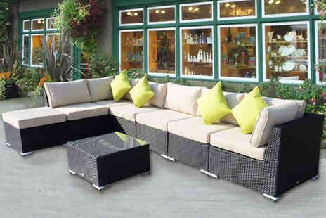 Mhstar - Eight piece rattan garden sofa set, with a limited number available - Save 70%