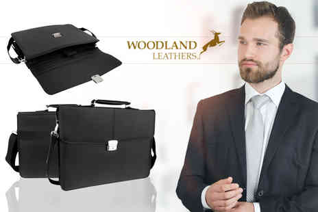 Woodland Leathers - Mens briefcase - Save 82%