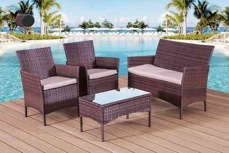 Rattan Trends - Patio rattan sofa set with a limited number available - Save 79%