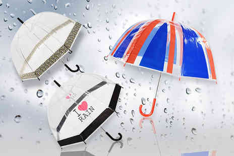 Shop Monk - Dome umbrella choose from three designs - Save 64%