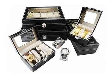 Graboom - 3, 6 or 10 Piece Faux Leather Watch Box - Save 0%