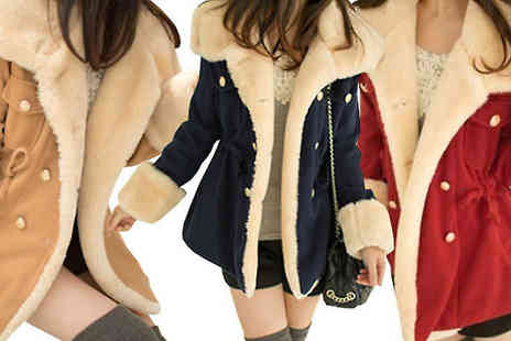 Graboom - Faux Sheepskin Winter Coat available in 3 Colours - Save 23%