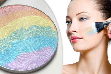 Graboom - Rainbow Shimmer Highlighter with Optional Brush - Save 0%