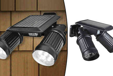 Graboom - Wireless Outdoor Security Dual Motion Sensor Spotlight - Save 0%