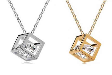 Marcus Emporium - Crystal Cube Necklace - Save 75%
