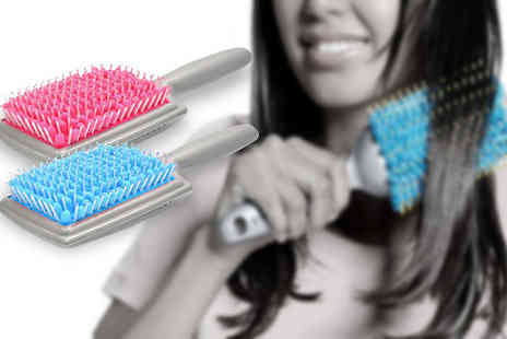 J & Y - Rapid Hair Drying Brush Choose 2 Colours - Save 73%