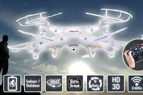 Gizmo Gadgets - 6 Axis Extra Large Gyroscope Quadcopter Drone with HD Camera - Save 77%