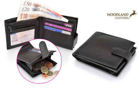 Woodland Leathers - Mens RFID leather wallet - Save 80%