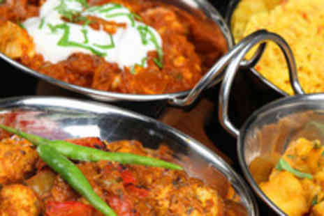 The Famous Curry Bazaar - 2 course Indian meal for 2 inc starters, mains, side and wine - Save 54%
