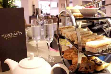 Samlesbury Hotel - Afternoon Tea for Two or Four with a Glass of Bubbly Each - Save 44%