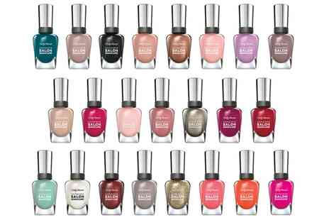 Groupon Goods Global GmbH - Lucky Dip Six or Ten Bottles of Sally Hansen Salon Manicure Nail Polish - Save 67%