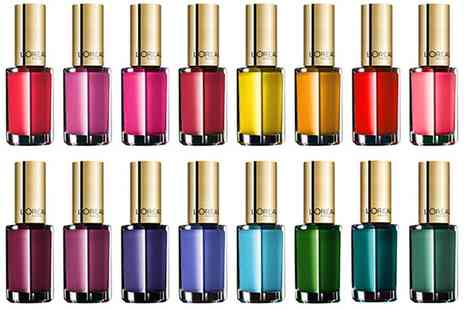 Groupon Goods Global GmbH - 5, 10 or 15 LOreal Color Riche Nail Polishes in Assorted Colours - Save 85%