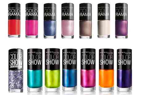 Groupon Goods Global GmbH - Ten Maybelline Colorama or Color Show Nail Polishes - Save 80%
