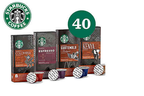 Eurovista2010 - 40 Starbucks Nespresso compatible coffee pods - Save 65%