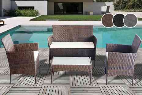 Advanced Global Productions - Four piece Rattan garden furniture set, with a limited number - Save 83%