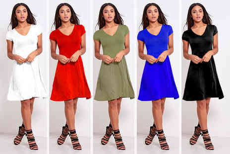 Be Jealous - V neck shift skater dress - Save 67%