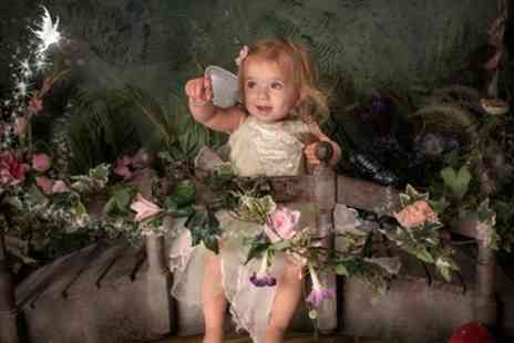 Rob Paul Studios - Fairy or Elf Themed Photoshoot for One or Two Kids with One Framed 6'' x 8'' Print - Save 94%