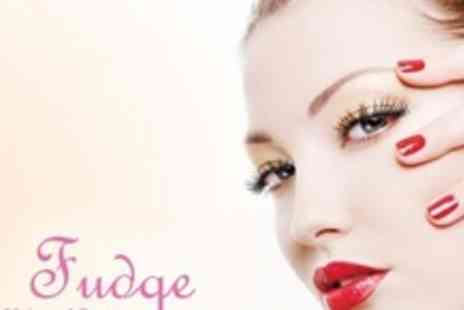 Fudge Hair Design - Shellac Manicure or Pedicure Plus Choice of Other Beauty Treatments - Save 65%