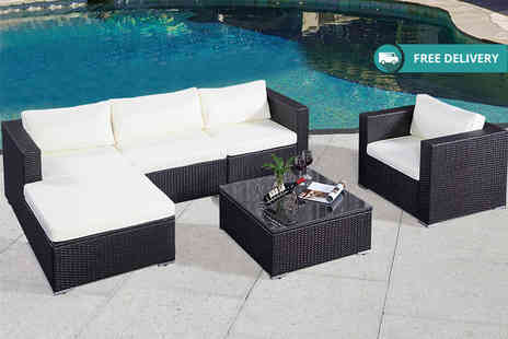 FDS Corporation - Six piece rattan garden sofa set Plus Delivery Is Included - Save 62%