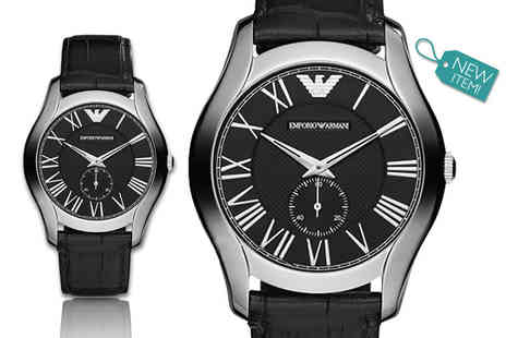 Gray Kingdom - Mens Emporio Armani classic leather AR1703 watch - Save 50%
