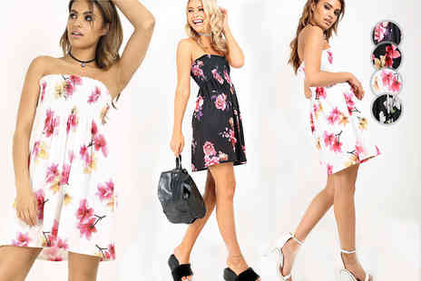 Be Jealous - Bardot floral print swing dress - Save 64%