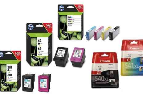 Raion - HP 300, 304, 301, 364 or Canon 541/PG-540, PG545/CL546 or Canon PG-540XL/CL-541XL Ink Cartridges With Free Delivery - Save 45%