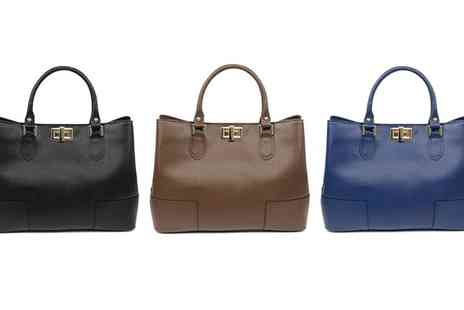 Groupon Goods Global GmbH - Carla Belotti Jeanne Leather Tote - Save 78%