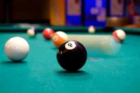The Locker Room - Two Hour Pool or Table Tennis Hire with Chicken Wings and Beer or Cider for Two or Four - Save 0%