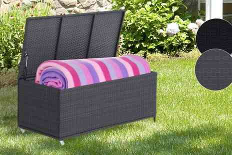 Mhstar - Wheeled Rattan Cushion Storage Box Available in 2 Colours - Save 0%