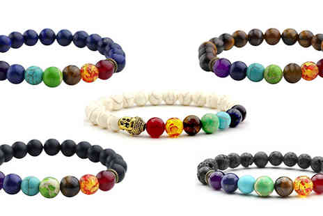 We can make it - Simulated Chakra Bracelet Available in Five Colours - Save 77%