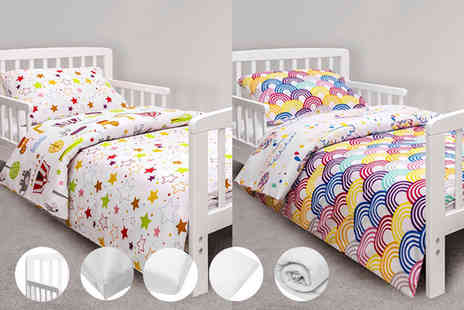 Precious Little One - Seven piece Kinder Valley toddler bed bundle select from two designs - Save 36%