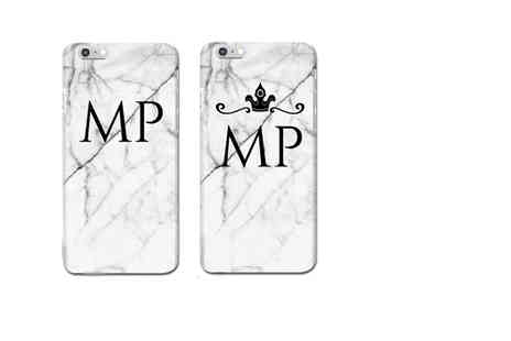Deco Matters - Personalised marble effect iPhone 6, 6 Plus, 7 or 7 Plus case - Save 73%