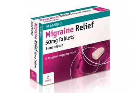Innox Trading -  Migraine Relief Sumatriptan 50mg 2 or 6 Tablets - Save 50%