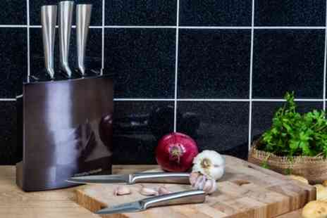 Groupon Goods Global GmbH - Morphy Richards Five Piece Knife Block Set in Choice of Colour - Save 64%