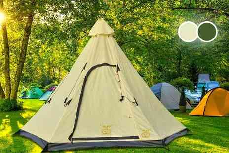 MC California - Six person teepee tent choose from two colours - Save 78%