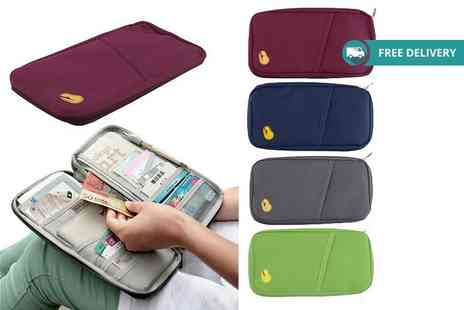GB GIFTS - Passport and document travel organiser choose from four colours Plus Delivery Included - Save 60%