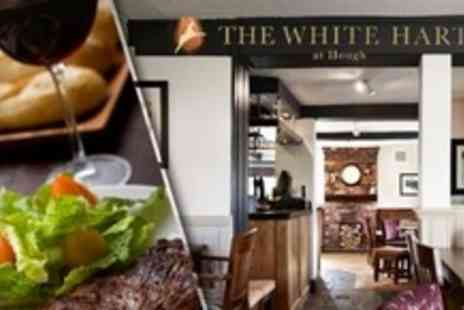 The White Hart - Steak Meal For Two With Glass of Wine - Save 61%