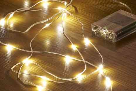Groupon Goods Global GmbH - One, Two, Three or Four Packs of Auraglow Led String Lights - Save 83%