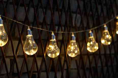Groupon Goods Global GmbH - 10, 20 or 30 Globrite Solar Wire Bulb String Lights - Save 67%