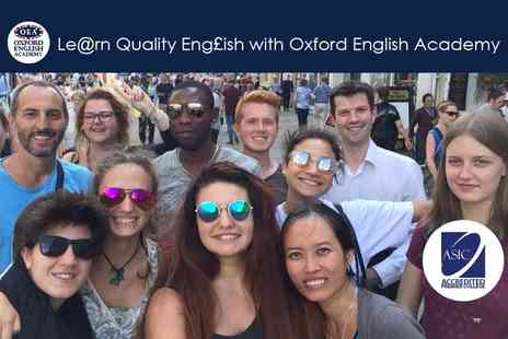Oxford English Academy - 60 hours of General English & Conversation - Save 60%