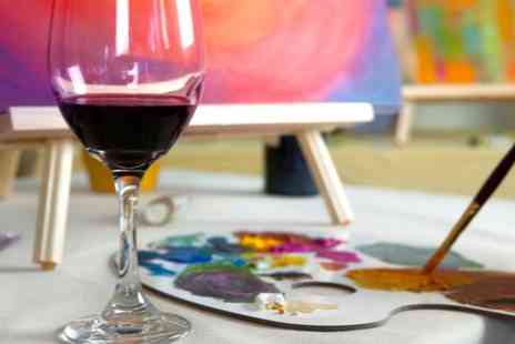 Vine & Canvas - Painting experience with wine - Save 50%