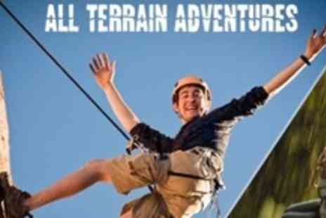 All Terrain Adventures - Zip Lining and Abseiling For Four - Save 61%