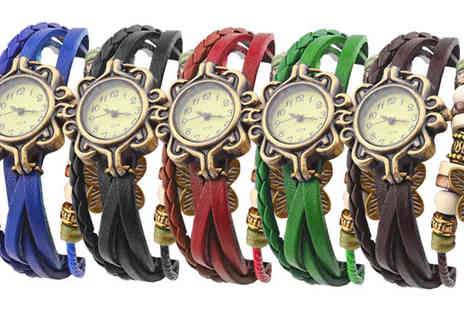Globi Toys - Vintage Style Butterfly Bangle Watch - Save 63%