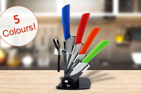 Richardson Group - 5 Piece Ceramic Knife Set - Save 68%